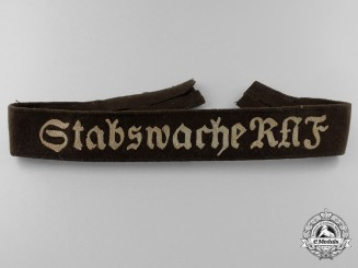 A Reich Labour Service  Guard Staff for the Reich Arbeits Führer (Stabswache RAF) Cufftitle