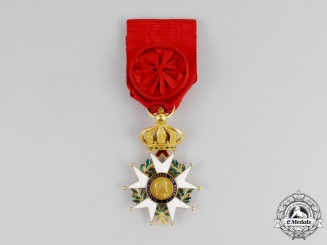 A Fine French Legion D'Honneur with Crown in Gold; Officer (1852-1870)