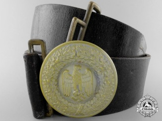 An Army General's Belt and Buckle Attributed to General der Infanterie Rudolf Toussaint