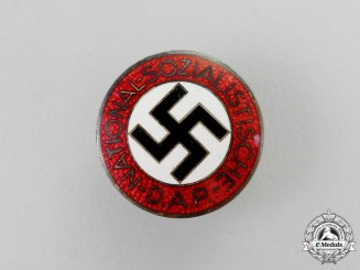 A NSDAP Party Member's Lapel Badge by Karl Hensler of Pforzheim