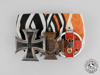 A First and Second War German DRK Service Medal Bar Grouping