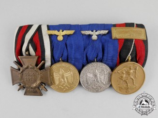 A First and Second War Wehrmacht Long Service Medal Bar