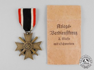 A Second War German War Merit Cross Second Class with Swords and Packet