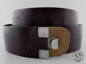 A Rare Late War Brown Synthetic Belt; RZM Marked