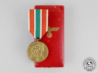A Return of Memel Medal in its Case of Issue by Petz & Lorenz
