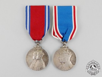 Two British Commemorative Medals