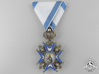 A Royal Serbian Order of St. Sava; 4th Class by Huguenin