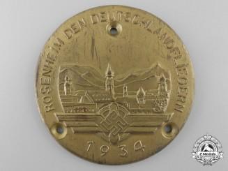 A DLV-Door Plaque; Rosenheim Germany to Airmen