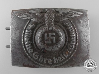 A Waffen-SS EM/NCO's Steel Belt Buckle by RODO