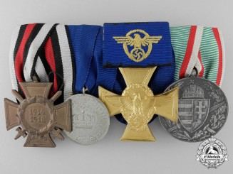 A German Police Medal Bar