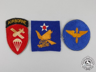 Three Second War Air Force Patches
