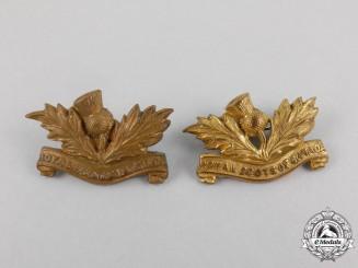 A 5th Regiment Royal Scots of Canada Collar Tab Pair