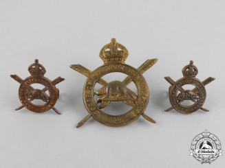 A First War Corps of Military Staff Clerks Insignia Set