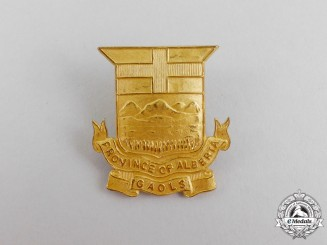 "A Province of Alberta ""Gaols"" Jail Guard's Badge"