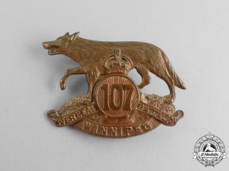 A First War 107th Infantry Battalion Cap Badge