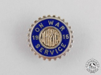 A First War Canadian JB&S Company Worker's War Service Badge