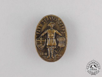 A First War Canadian Farm Service Corps Badge 1918