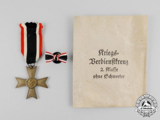 A War Merit Cross Second Class without Swords in its Packet of Issue