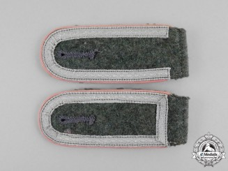 An Unissued Matching Set of Wehrmacht Panzer Unteroffizier Rank Shoulder Boards
