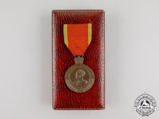 An Ethiopian Patriot's Medal in Case by MAPPIN & WEBB