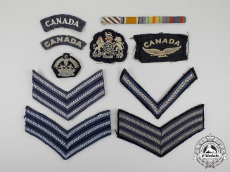 A Lot of Ten Royal Canadian Air Force (RCAF) Veteran's Insignias