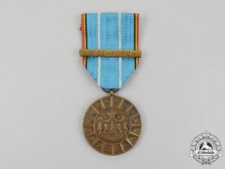 A Belgian Medal for Foreign Theatres of Operations with Korea Clasp