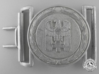 A 1938 Pattern German Red Cross (Deutsches Rotes Kreuz) Officer's Belt Buckle