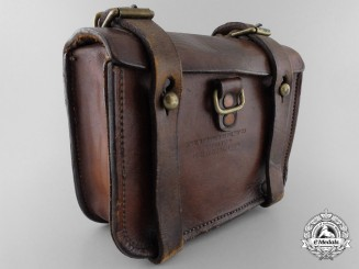 A First War Ammunition Pouch by Anglo Franco Saddlery of Montreal
