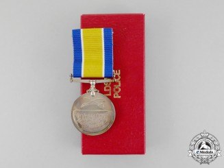 A Sudanese Police Long and Distinguished Service Medal, Boxed