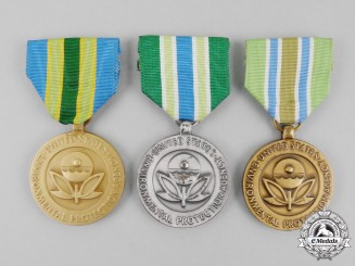 Three American Environmental Protection Agency Medals