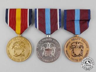 Three American Public Health Service Medals