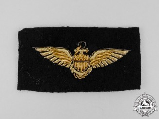 A Second War Bullion United States Naval Aviator Badge