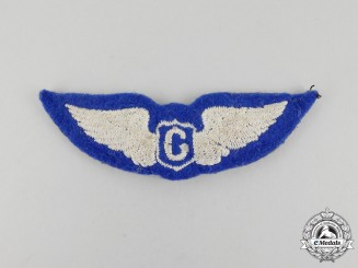A Second War English-Made Embroidered United States Army Air Forces Glider Pilot Badge
