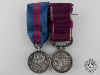 A Fine British Army Long Service Miniature Pair