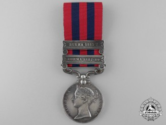 An India General Service Medal 1854-1895 to the Hyderabad Contingent Cavalry