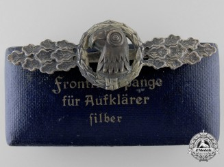 Germany. A Silver Grade Reconnaissance Clasp by Jmme & Sohn, with Case
