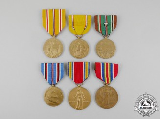 United States. Six Second War American Service Medals