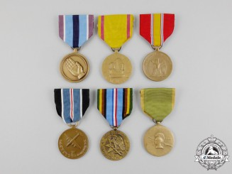 United States. Six American Service Medals