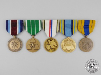 United States. Five American Service Medals