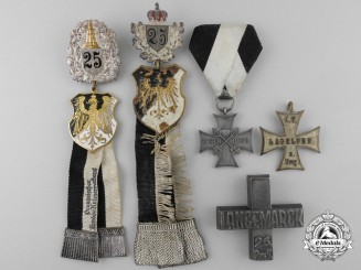 Five Prussian Veterans Badges & Awards