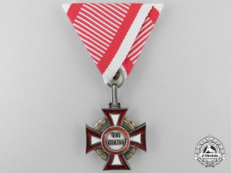 An Austrian Military Merit Cross by V. Mayer 1914-1918
