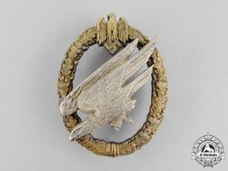 Germany, Wehrmacht. A Fallschirmjäger Badge, by C. E. Juncker of Berlin