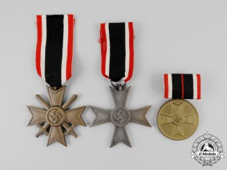 Three War Merit Medals and Second Class Crosses
