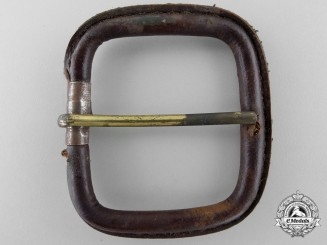 An Unidentified Second War Period German Single Claw Open Leather Buckle