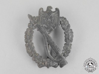 A Second War German Silver Grade Infantry Assault Badge