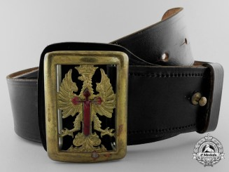 A Rare Spanish Blue Division Officer's Belt with Buckle