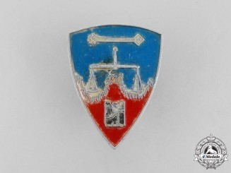 A Scarce Nuremberg War Crimes Trial Badge by Christian Lauer
