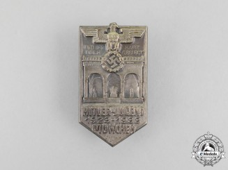 A 1933 10-Year Anniversary of the HJ in Munich Badge