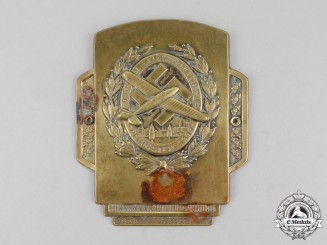 A 1933 First National Socialist Week of Flight in Fürth Car Plaque