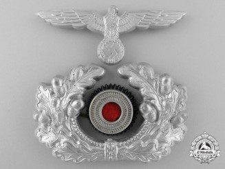 A German Army/Heer Officer's Visor Cap Insignia